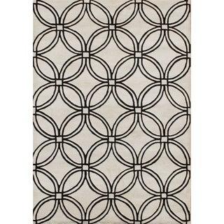 Alliyah Handmade Light Grey New Zealand Blend Wool Rug