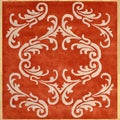 Hand-made 'New Bharat' Red Wool Rug (6' Square)