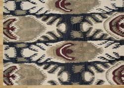 Alliyah Handmade IKAT' Black New Zealand Blend Wool/ Viscose Silk Rug (8' x 10')