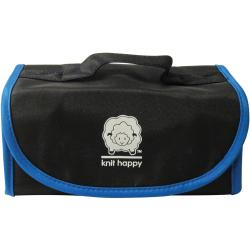 Knit Happy Fold 'n Go Notions Box-Black/Blue