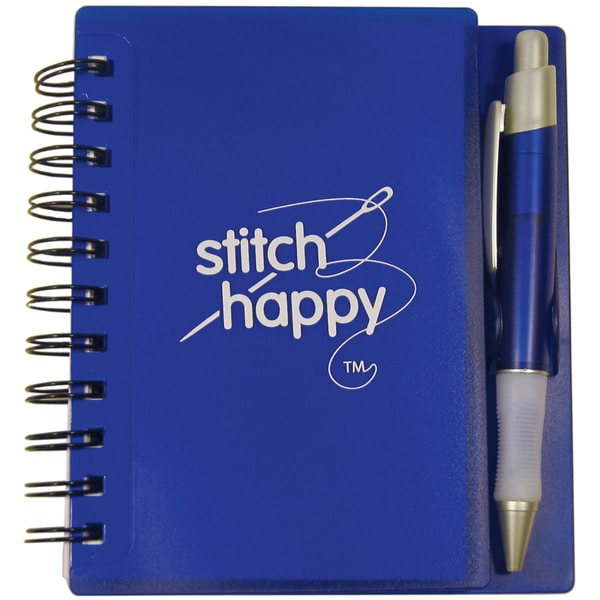 Stitch Happy Idea Notebook & Pen Desk Set-Sapphire
