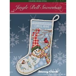 Stoney Creek Chart Packs-Jingle Bell Snowman Stocking