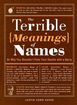 The Terrible Meaning of Names: Or Why You Shouldn't Poke Your Giselle With a Barry (Paperback)
