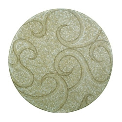 Outdoor Waves 24-inch Round Mosaic Table Top