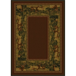High Country Elk Area Rug (5'3 x 7'6)