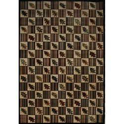 Lodge Rustic Floral Area Rug (7'8 x10'10)