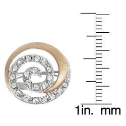 Journee Collection Coppertone Steel Cubic Zirconia Spiral Ring