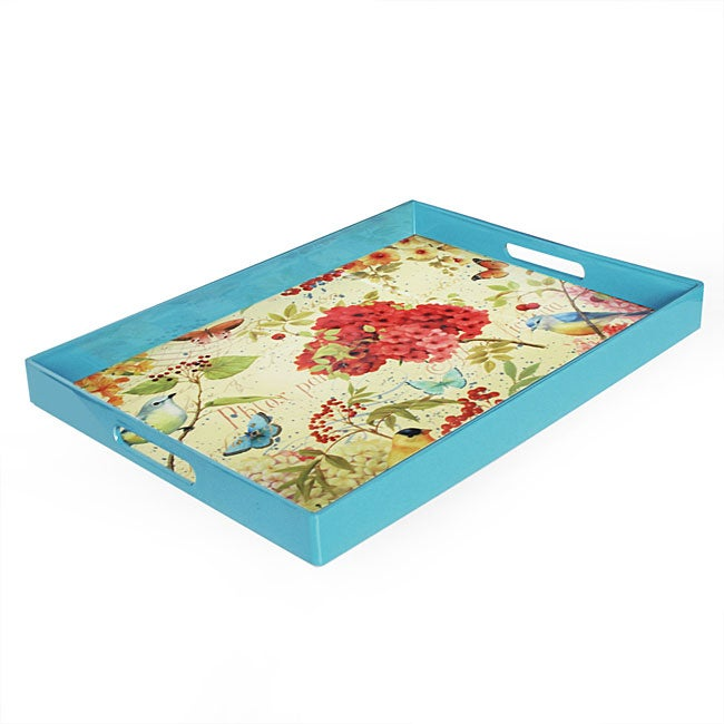 Accents by Jay 'Garden Passion' Serving Tray