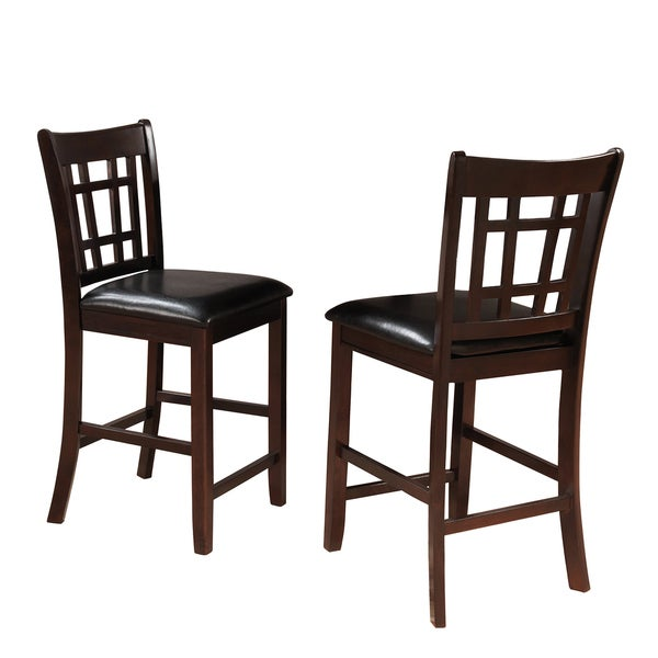 TRIBECCA HOME Banbury Warm Cherry Mission 24-inch Counter Stools (Set of 2)