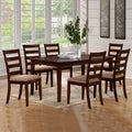 Bewdley Walnut Ladder Back Casual 7-piece Dining Set