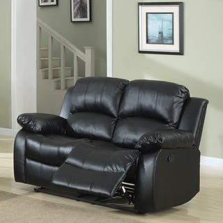 Coleford Black Double Reclining Loveseat