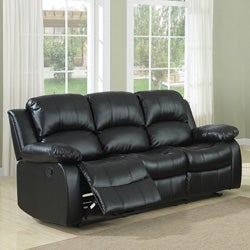 TRIBECCA HOME Coleford Black Double Reclining Sofa