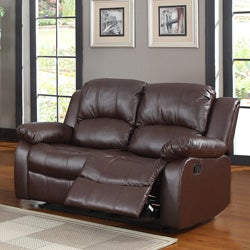 Coleford Brown Double Reclining Loveseat
