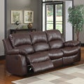 TRIBECCA HOME Coleford Brown Double Reclining Sofa