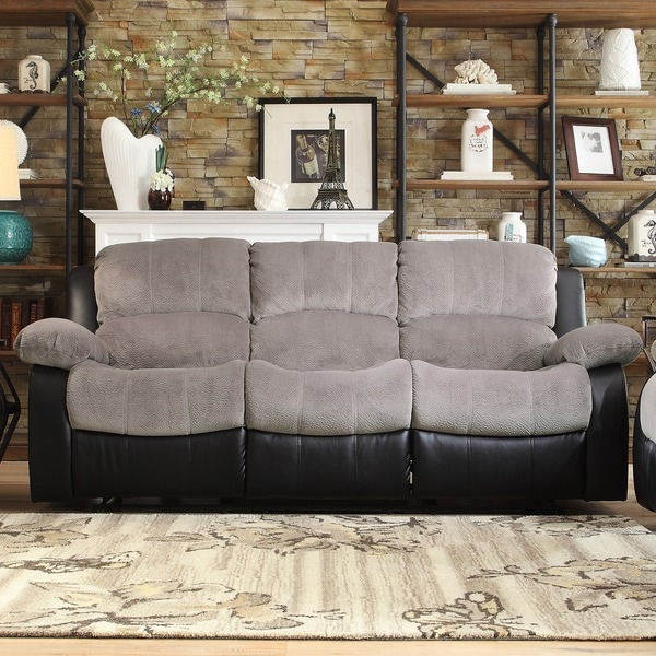 TRIBECCA HOME Coleford Tufted Transitional Double Reclining Sofa