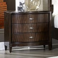 Cumbria Retro Modern Curved Front 3-drawer Nightstand