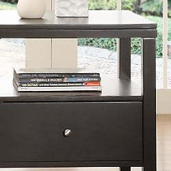 Keighley Espresso 1-drawer Modern Accent Table Nightstand