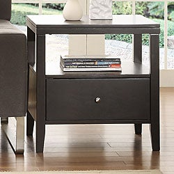 TRIBECCA HOME Keighley Espresso 1-drawer Modern Accent Table Nightstand