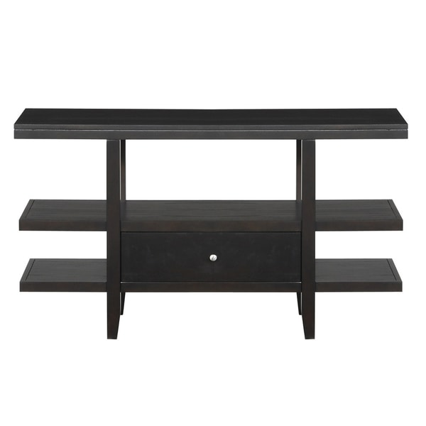 Keighley Espresso Wood Top Sofa Table