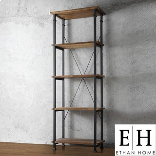 ETHAN HOME Myra Vintage Industrial Modern Rustic Bookcase