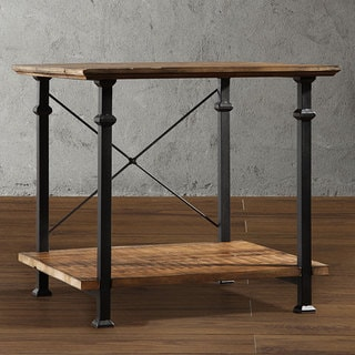 ETHAN HOME Myra Vintage Industrial Modern Rustic End Table