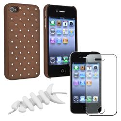Brown Diamond Case/ Screen Protector/ Wrap for Apple iPhone 4/ 4S