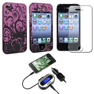 Swirl Case/ Screen Protector/ FM Transmitter for Apple iPhone 4/ 4S
