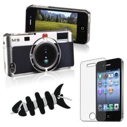 Camera Pattern Case/ Screen Protector/ Wrap for Apple iPhone 4/ 4S