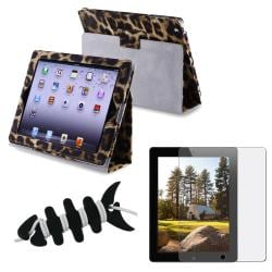Black/ Yellow Leather Case/ Screen Protector/ Wrap for Apple iPad 2/ 3