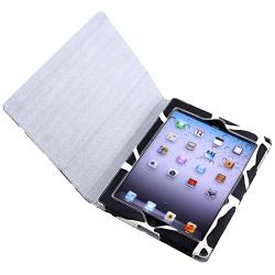 BasAcc Milk Cow Leather Case/ Screen Protector/ Stylus for Apple iPad 2/ 3/ 4