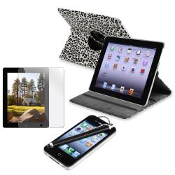 Black Leather Case/ Screen Protector/ Stylus for Apple iPad 2/ 3