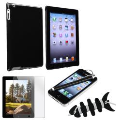 BasAcc Black Case/ Screen Protector/ Wrap/ Stylus for Apple iPad 2/ 3/ 4