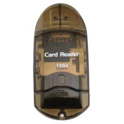 BasAcc Smoke USB 2.0 SDHC Memory Card Reader with Adapter