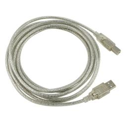 BasAcc 10-foot Translucent USB 2.0 M/ M Type A to B Cable