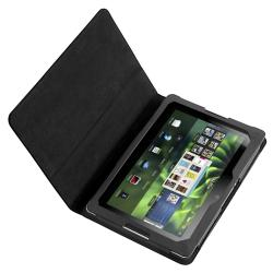 INSTEN Black Leather Phone Case Cover for BlackBerry Playbook