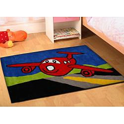 Jovi Home Hand-tufted Airplane Cotton Rug (5' x 7')