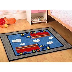 Jovi Home Hand-tufted Truck Cotton Rug (5' x 7')