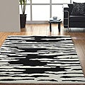 Jovi Home Proximity Hand-tufted Black/ White Wool Rug (8' x 11')