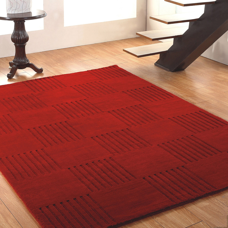Jovi Home Vivacity Hand-tufted Red Wool Rug (8' x 11')