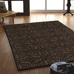 Jovi Home Ensemble Hand-tufted Taupe Wool Rug (4' x 6')