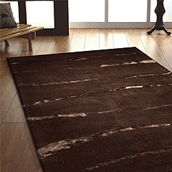Jovi Home Nomad Gloss Hand-tufted Chocolate Wool Rug (4' x 6')