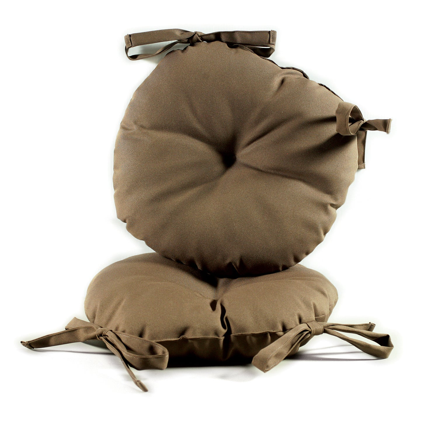 Brown 17 inch Round Indoor Outdoor Bistro Chair Cushion