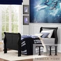 TRIBECCA HOME Canterbury Louis Phillip Black Twin-size Sleigh Bed