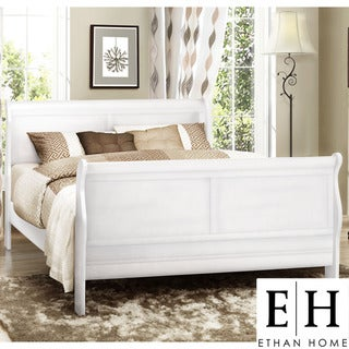 ETHAN HOME Canterbury Louis Phillip White Full-size Sleigh Bed