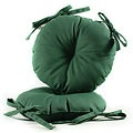 Green 17-inch Round Indoor-Outdoor Bistro Chair Cushion (Set of 2)