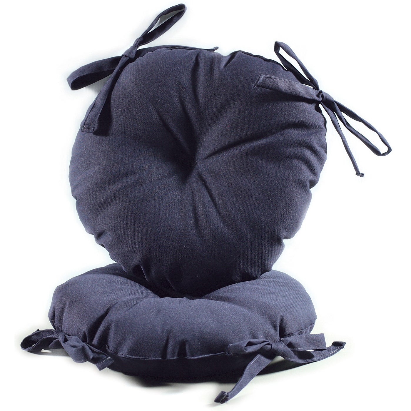 Navy Blue 17-inch Round Indoor-Outdoor Bistro Chair Cushion (Set of 2)