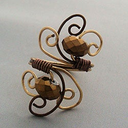 Handmade Swirly Wire Ring