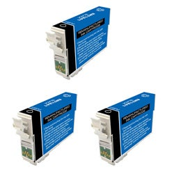 Epson T126 T126100 Remanufactured Black Ink Cartridges (Pack of 3) (Refurbished)