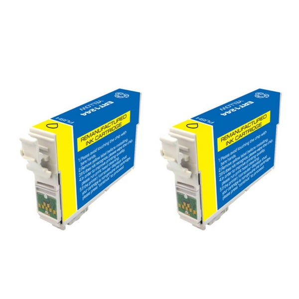 Epson T126 T126400 Remanufactured Yellow Ink Cartridges (Pack of 2) (Refurbished)