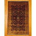 Indo Hand-knotted Mahal Black/Red Wool Rug (5'8 x 9'1)